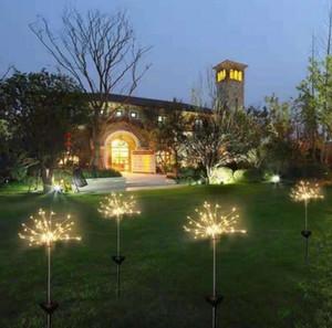 태양 불꽃 놀이 LED 조명 방수 야외 정원 조명 문자열 램프 휴일 결혼식 장식 조명 정원 장식 WY316Q ZWL