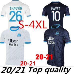XXXL 4XL Thaïlande Maillot Olympique de Marseille Maillot de football 2020 2021 Marseille Maillot de pied BENEDETTO PAYET L GUSTAVO THAUVIN chemises