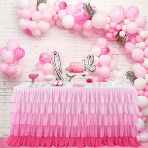 Tulle Table Skirt Party Tutu Table Skirts Baby Shower Favors Banquet Wedding Hotel Decoration Home Textile Table Skirts