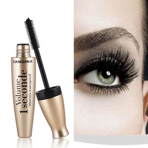 YANQINA New 4D Fiber Mascara Long Eyelash Silicone Brush Curving Lengthening Mascara Waterproof Longlasting Makeup Eye Cosmetic