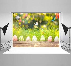 Kate Easter Backdrops für Fotografie Frühling Bokeh Hintergründe Foto Natur Bunte Eier Hintergrund