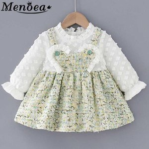 Menoea 1-5Y European And American Style Children Clothes Fall Girls Long Sleeve Lace Clothes Kids Dresses Girls Princess DressXjb9#