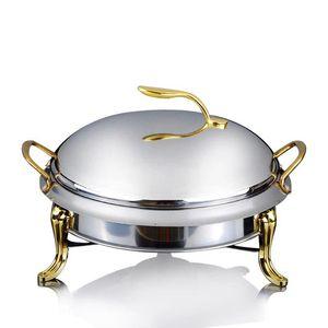 Paslanmaz çelik alkol soba ev / ticari küçük reşo çanak katı yakıt kazanları küçük kuru sıcak pot elma pot 20/24 cm