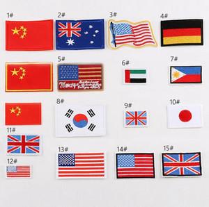8P-82 venda quente Nacional bordado bandeira FLAG em patchwork Applique KIDS US bandeira alemã union jack costurar em patch pode o projeto do cliente