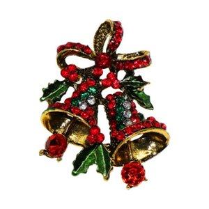 Amabili Due Bow Bells Spille per Suit donne di Natale Pin Spilla regalo creativo Vintage cappotto dei monili Abito Accessori regalo