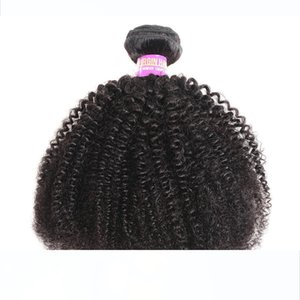 8A Afro Curly Malaysian Virgin Hair Extensions 3 Bundles Natural Color Afro Kinky Curly 100% Human Hair Weaving 4B 4C Human Hair