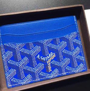 Высокое качество Париж стиль роскошный дизайнер классический известный мужчины женщины известный натуральная кожа GY держатель кредитной карты мини кошелек
