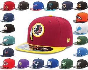 calcio 32 Caps Sport Team Fornitura completa degli uomini all'ingrosso di alta qualità del piatto del bordo sul campo Pieno Chiuso il disegno di formato 7- taglia 8 misura i cappelli di baseball