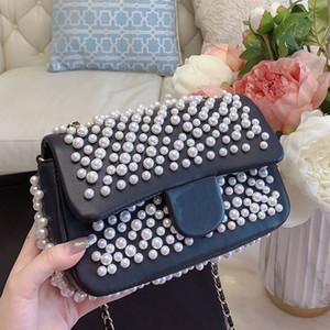 Наплечная сумка дизайнер Crossbody сумка дизайнерские роскошные сумки кошельки мода жемчужные бусины аппаратные аксессуары женщины цепи сумки