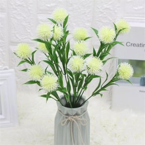 "Fake Dandelion (7 stems bunch) 14.57"" Length Simulation Chrysanthemum Ball for Wedding Home Decorative Artificial Flowers"