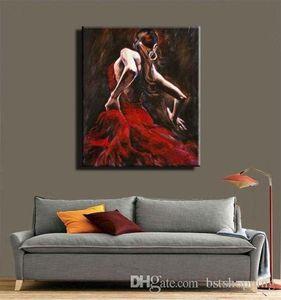 High Quality Modern Abstract Handpainted & HD Print Oil Painting Spanish Flamenco Dancer Portrait On Canvas Wall Art Home Decor p118