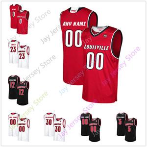 Пользовательские Louisville Баскетбол Джерси Колледж Nwora Эйдан Igiehon Дэвид Джонсон Джош Nickelberry Хоган Orbaugh Куинн Slazinski