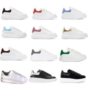 Hot scarpe casual-elegante di vendita rifrangenti 3M in pelle bianca degli uomini donne della piattaforma piana scarpe da sposa partito casuale in pelle scamosciata