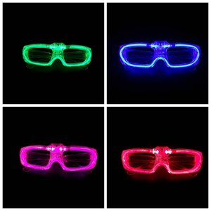 Жарко! Светодиодных очки кадров люминесценции Батарейки Кнопки переключатель 3 режима Прохладного фестиваль партии освещение Supplies Без объектива Открытого Eyewea