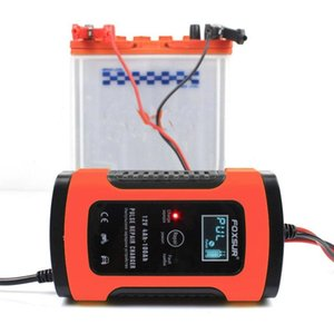 FOXSUR 12V 5A 펄스 수리 LCD 배터리 충전기 레드를 들어 자동차 오토바이 AGM 젤 습식 리드 산성 배터리