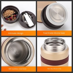 500ML Thermo Mug Vacuum Flasks Stainless Steel Mini Lunch Box Thermoses with Containers Other Dinnerware