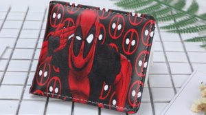 Hot Sell DHL120PCS PU and PVC Purse American Marvel Comic Deadpool Wallet for Young Men and Women Purse