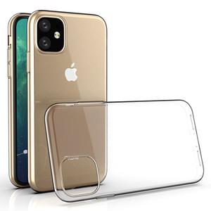 Ultra İnce Yumuşak TPU Silikon Jel Kauçuk Temizle Şeffaf Kapak Kılıf iPhone 12 Pro Max 11 XS XR X 8 7 6 6S Artı SE 2020 Darbeye