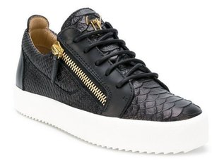 Giuseppe Zanotti 2019 Designer Hommes Sneakers coupe Spikes chaussures Flats Bas rouge pour les hommes du Parti Sneakers en cuir chaussures Designer 01