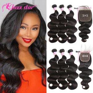 3 4 Peruvian Hair Body Wave Bundles with Closure 3 Bundles with Closure Queen Mary Non Remy
