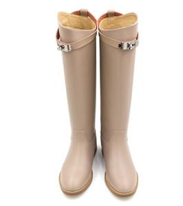 2018 Cuero de Vaca Tamaño grande 34-42 Chick Heels Boots Zapatos de mujer Añadir Fur Add Fur botas de lujo diseñadores de mujeres Mujer Botas Mid Calf