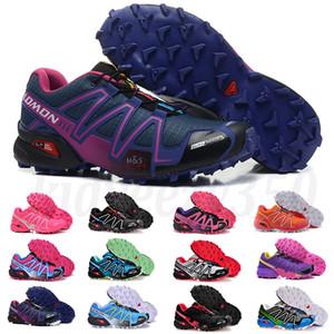 Salomon Speed Cross 3 4 Marque Hot vendre Solomons Speedcross 3 CS Trail Chaussures de course pour femmes légère Sneakers marine Salomon III Zapatos ShoesA55 Athletic étanche