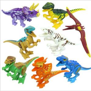 Los dinosaurios 8pcs / set del bloque Puzzle Ladrillos dinosaurios Figuras Building Blocks del bebé juguetes educativos para niños de juguete de regalo de los niños