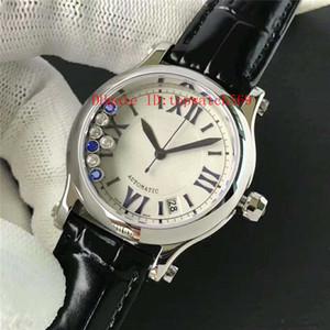 톱 해피 다이아몬드 숙녀 시계 다이아몬드 여자는 여성 시계 스위스 자동 9015 사파이어 크리스탈 316L 스테인레스 스틸 케이스 시계