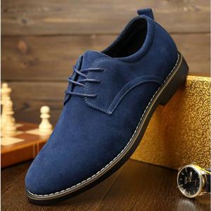 camoscio maschio Classic Leather Brogue Shoes vestito convenzionale Uomini Scarpe maschio nozze Office Business A54-87