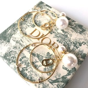 D роскошные дизайнерские ювелирные изделия женские серьги жемчуг дизайнерские серьги подарок на день рождения круг дизайнерские серьги с коробкой