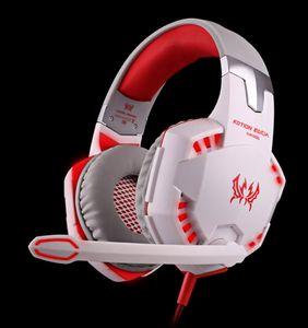 G2000 Oyun Kulaklık Işık Mic ile Büyük Kulaklıklar Stereo Kulaklık PC Bilgisayar Gamer Tablet için Derin Bas PS4 X-BOX