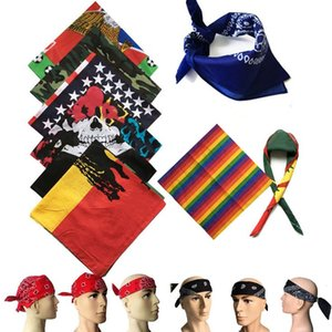 bandeira nacional New hip hop praça lenço cocar ao ar livre montando praça lenço multi-funcional street dance Euro lenço máscaras Bandanas C065-5
