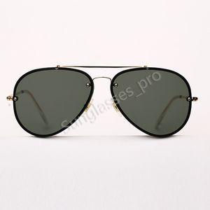 الطيار الحريق نظارات نظارات رجالي أزياء النساء نظارات شمسية جسر مزدوج ديس هلالية دي سولي مع جلد حالة