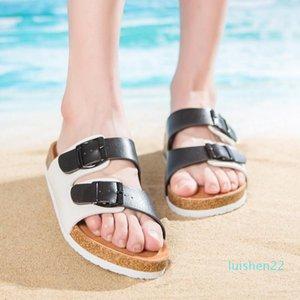 Men Women New Beach Cork Flip Flops Slipper Casual Summer Mixed Color Slip on Sandals Couple Flat Shoe Plus Size l22