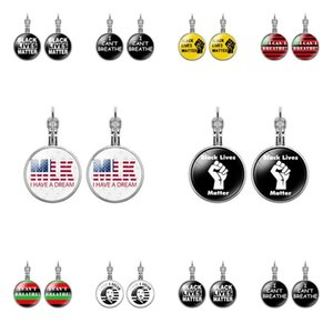 fashion 2020 Round I CANT BREATHE earring French earrings American Parade accessories black lives matter gril Jewelry T2C5228