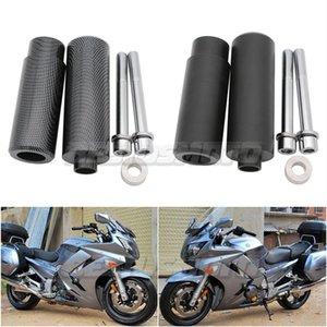 Motorcycle Black Carbon No Cut Frame Sliders Crash Falling Protection For FJR1300 FJR 1300 2006 2007 2008 2009 2010 2011