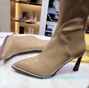 Hot Sale-Explosion models designer high-elastic fashion high-heeled shoes top quality personalized fashion boots
