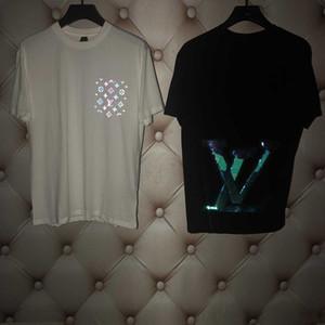 Toptan PP20 Yeni Lüks Tasarımcılar Paris fanlar T Shirt Erkek Giyim Kadın Yaz Casual T Shirt Pamuk mektup moda Kısa Kollu Medu