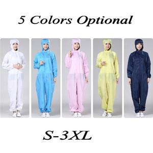 S-3XL tuta con cappuccio non tessuto monouso Protective Clothing Hazmat Isolamento Tuta anti-abito di abbigliamento di sicurezza di fabbrica Unisex FY4003
