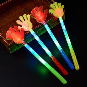 100pcs resplandor de colores LED parpadeante del partido del festival la boda del cumpleaños de la mano palillo de Clapper para el concierto que anima palillos ligeros ZA5659