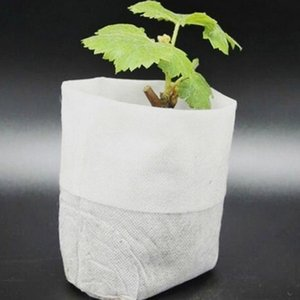 100PCS Bag Biodegradable Seed Nursery Bags Nursery Flower Pots Vegetable Transplant Breeding Pots Garden Planting Bag