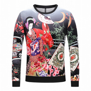 2019 Explosion des Herbstes Qualität Männer Pullover und Winter mit langen Ärmeln Gold Samt Pullover Männer Marke lässig Medusa Pullover