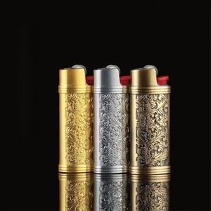 최신 더 많은 색상 금속 라이터 보호 장식 케이스 휴대용 담배 디자인 흡연 담배 파이프에 대 한 휴대용 케이스 혁신