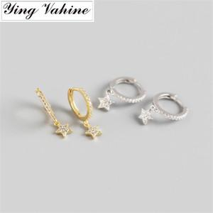ying Vahine 100% 925 Sterling Silver estrela de cinco pontas Pendant brincos para mulheres