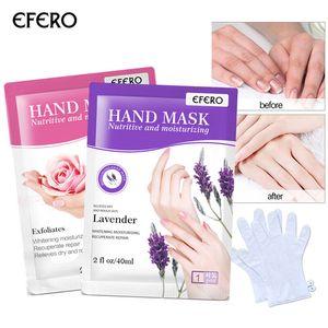 قفازات EFERO مرطب اليد قناع قفازات التقشير اليد تصحيح سبا أداة الجمال الإنتعاش 6pairs العناية بالبشرة