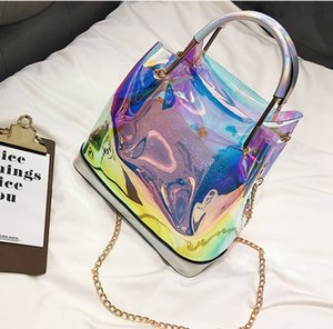 Classic Top Laser Flash PVC Designer Handbags Transparent Duffle Bag Brilliant Colour Luggage Travel Bag Crossbody Shoulder Handbag