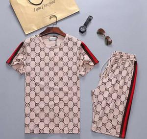 Men's sportswear suit 2020 jogging new brand designer suit T-shirt and pants men and women summer sports suit small bag