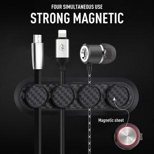 Hot New Car magnético fijo abrazaderas de cable del soporte USB del soporte del cable de alambre del organizador del almacenaje