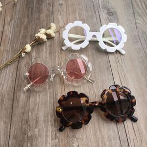 Gafas de sol de la vendimia para niños Niños Gafas de sol flor redonda del bebé niños UV400 de sol del deporte muchachos de las niñas