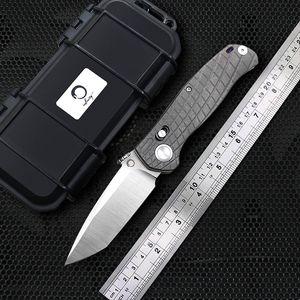 DICORIA prophète AXIS couteau de pliage tactique haute dureté titane lame M390 traité KVT portant la survie des activités de plein air Couteau pliant